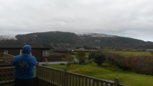 View from the Lodge's Balcony on Saturday Morning