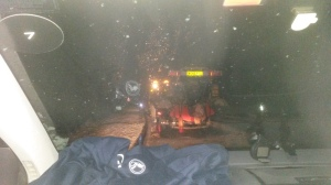 tht's what it looked like from inside the car