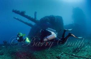 USS Saratoga Guns - photo courtesy of Barry Smith