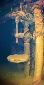 USS Saratoga machinery room - photo courtesy of Barry Smith