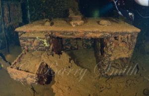 Admiral's desk USS Saratoga - Photo courtesy of Barry Smith