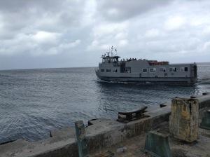 Kwajalein to Ebeye USA Army ferry