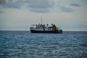 Actual photo of MV Winward of Indies Trader.